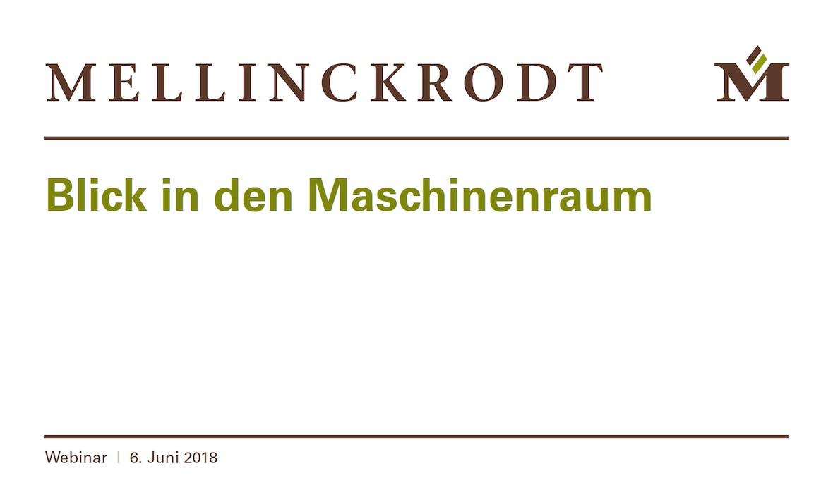 Webkonferenz Präsentation mit Mellinckrodt