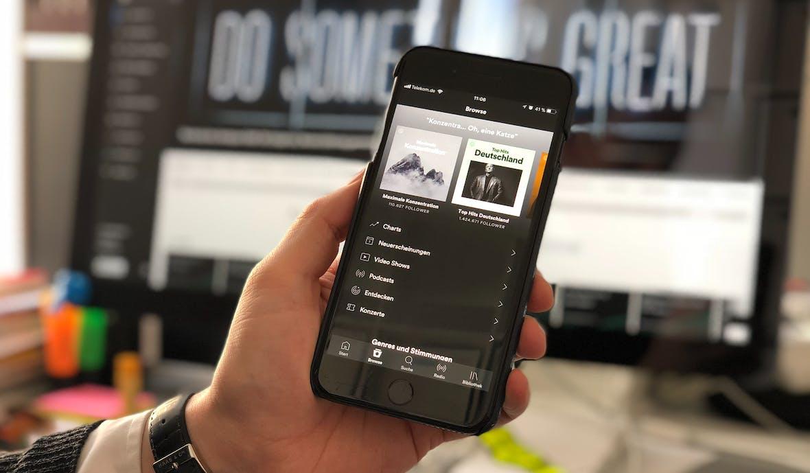 Individuelle Erfolgsgeschichte von Spotify